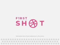 1st Shot - Hello Dribbble ! designer clean dribbble simple logo inspiration first brand identity design logo brand firstshot