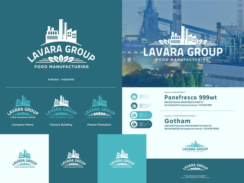 Lavara Group - Alternative Logo clean design plantation peanut manufacturing logodesign food green logo brand identity