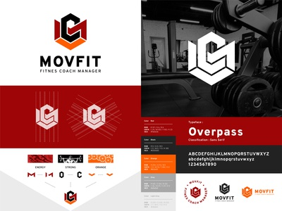 MOVFIT Fitnes Coach Manager - Logo Construction logodesign logo guidelines digital style guide corporate identity clean logo branding brand identity brand guidelines