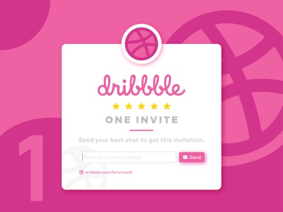 Dribbble Invitation red design dribbble dribbble invitation best shot ui subscribe dribbble best shot logo invite invites email giveaway invitation dribbble invite