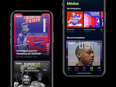 Free Ligue 1 Uber Eats soccer football ios application ux ui design app