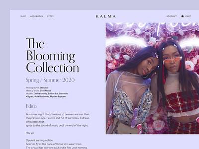 Kaema Website ux ui webdesign website ivory coast fashion brand