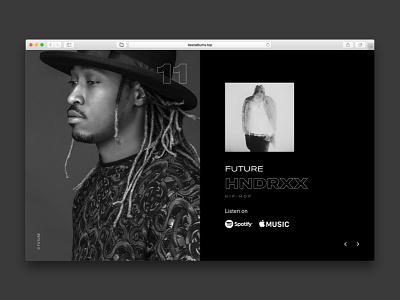 2017 music web design ux ui webdesign