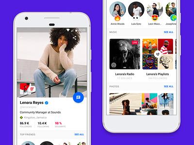 📱 Android Profile music ui ux design profile android