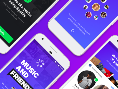 Sounds Android Onboarding mobile app music onboarding android