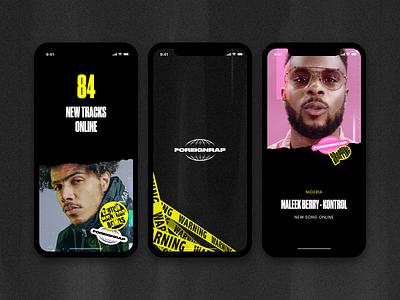 🌐 Foreignrap Assets application mobile design ux ui app webdesign music