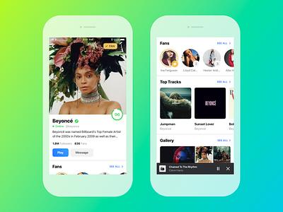 👑 Artists Page artist ios application mobile design ux ui app music