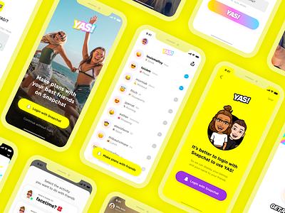 💛👻 snapkit snapchat application mobile design ux ui app