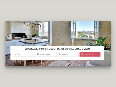 hospitality service search engine minimal flat web typography branding ui design