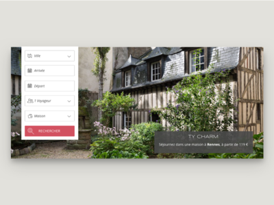hospitality service old search engine website web ui branding design flat