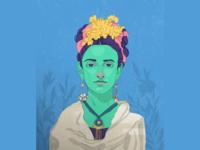 Frida Kahlo, portrait style1