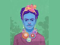 Frida Kahlo, portrait style2