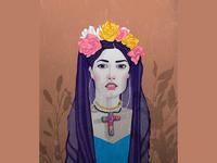 Frida Kahlo, portrait style4