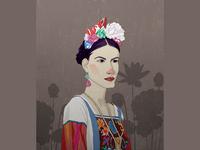 Frida Kahlo, portrait style5