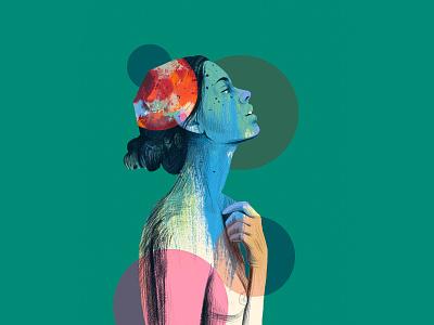 Portrait models design art fasion love drawing dribbble illustration