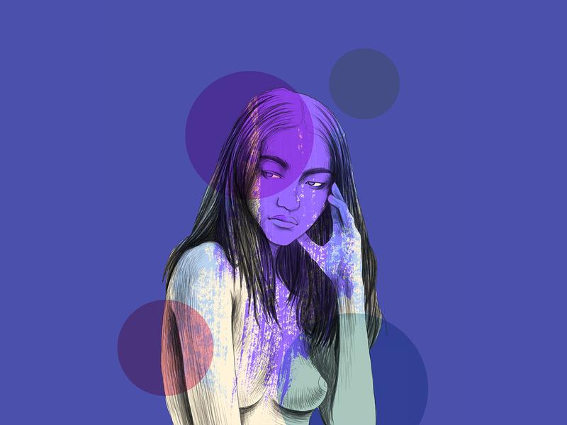Portrait creative adobe models design love art fasion drawing digital dribbble illustration