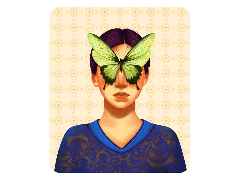 Hiding Eyes procreate art procreate portrait love models fasion design art drawing digital illustration