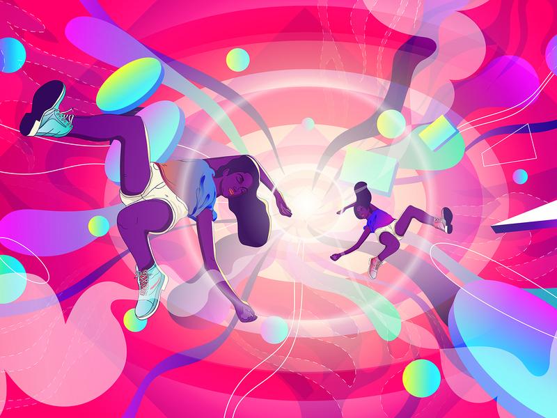 Absorb procreate art geometry shaps instagram creative vector fasion design art drawing digital illustration