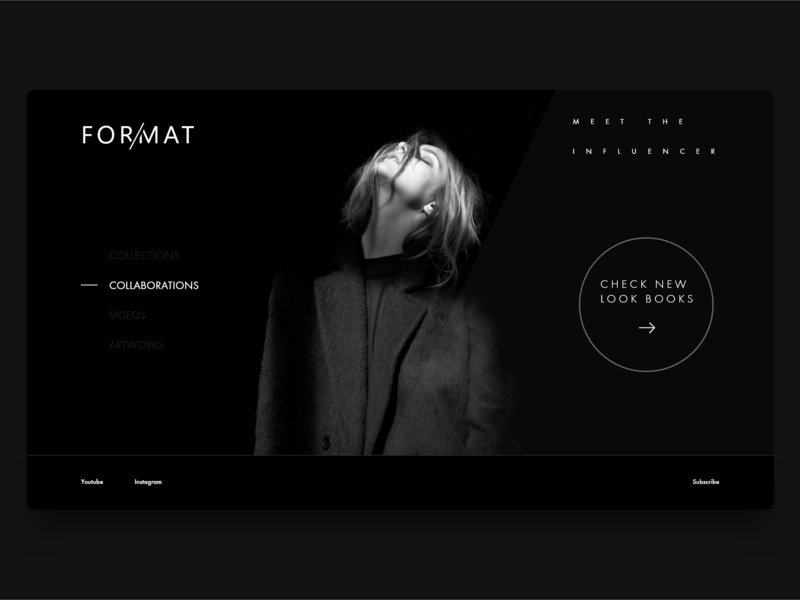 Format - Look Books debut shot hellodribbble adobexd website ux ui photoshop web design