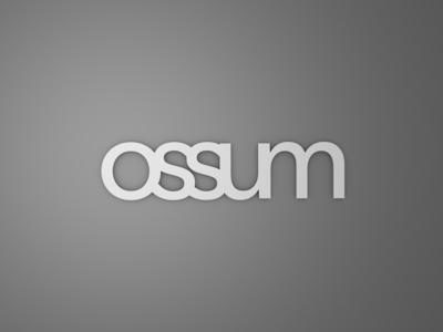 Ossum logo 3D render
