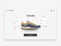 Simple Landing Page Shoes