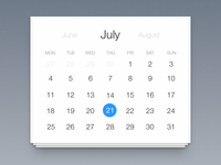 Calendar  :: 7 2 1 ::