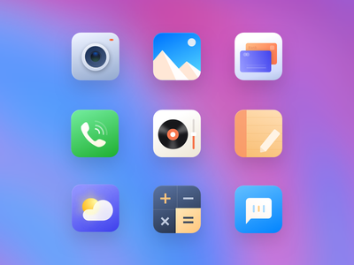 OS app design ui icon