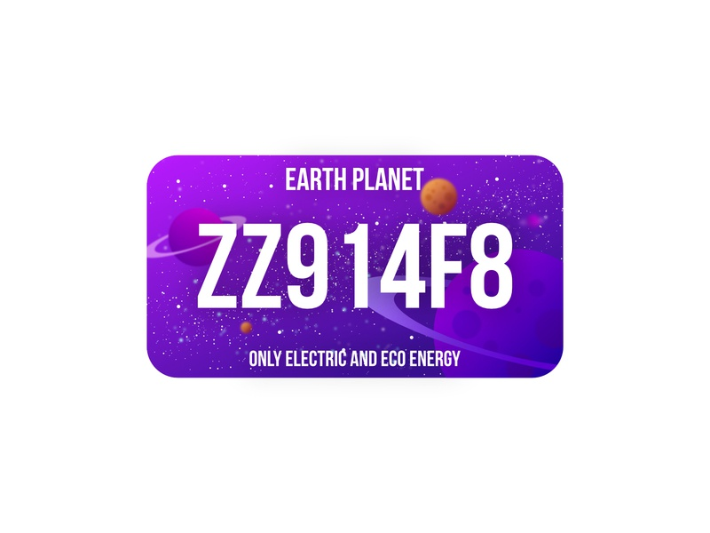License Plate Earth | weekly Warm-Up by @dribbble