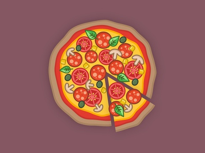 Pizza design | piece | food