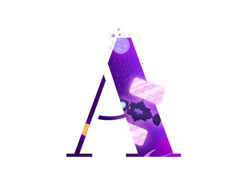 A Logo | Alphabet | Space | Letter letters logotypedesign logotype a letter alphabets alphabet typography alphabet logo alphabet lettering typography art typography logo typography letter art