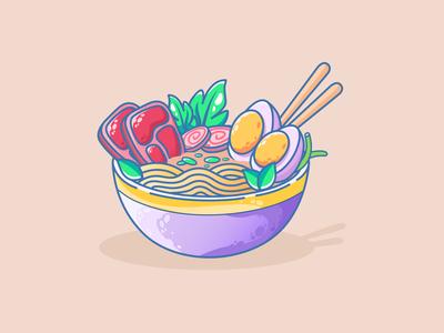 Ramen | Ramen lovers | Soup | Noodle warmup noodles noodle ramen art ramen illustration food and drink food app foodie food japanese food japanese art japanese japan ramen