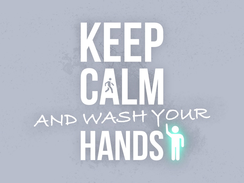 Weekly warm-up challenge | Keep Calm and wash your hands