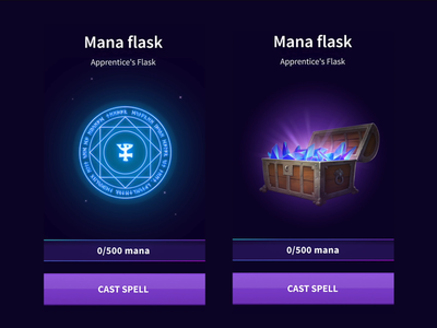 MANA MAGIC APP / Game design / Game animation / Motion design motion art motion design money purple blue green crystals crystal wizard magical chest spell game designer game design game art game ui app animation game magic mana