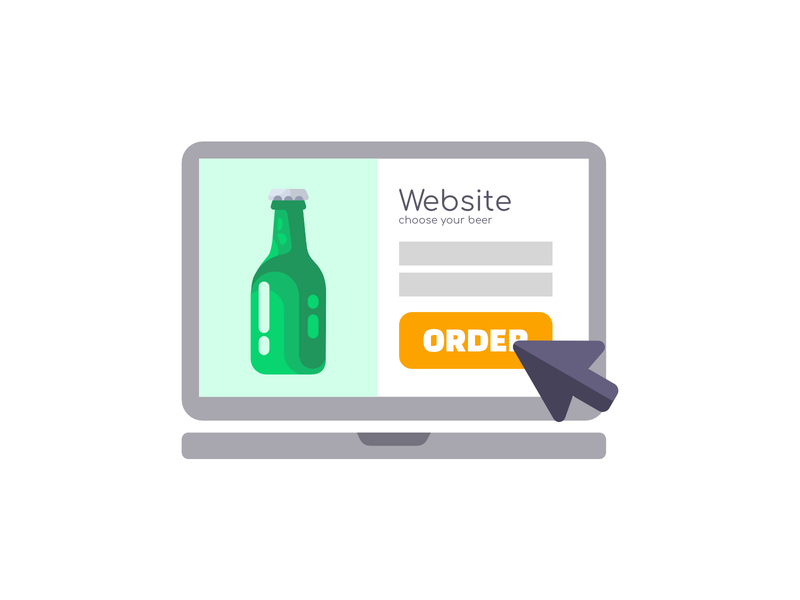 Beer order / icon macbook / icons / website icon / website branding alcohol bottle iconset e-commerce shop e-commerce app e-shop e-commerce sell buy orders shop beer ux ui uiux button order icons icon