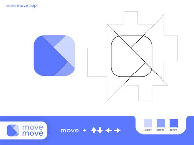 Movemove app / Logo / app icon logotype design blue logo top ux ui designer best logo outline logotype designer logos app icons app icon mascot logodesign arrow logo arrow move logo designer logotype logo design logo