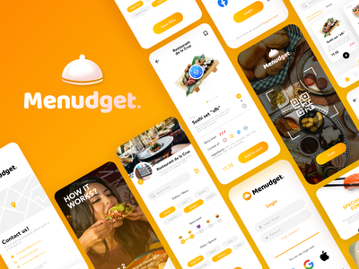 Menudget app design, food app, restaurant app uiux app ui ux restaurant app ui app uiux designer food delivery app app ux app design app designer food app
