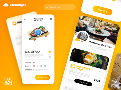 Menudget app uiux app designer food app food uiux clean uiux uiuxdesign uiux app uiux app ui app design app uiux