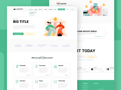 Finance website UIUX top dribbble cryptocurrency uiux designer finance landing page website crypto uiuxdesigner finanse uiux