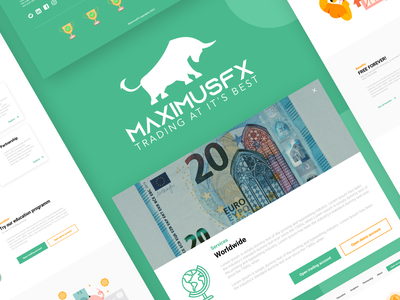 MaximusFX website design finance logo design agency uiux design uiux finance app financial app financial forex website forex trading logo trading app trading finance