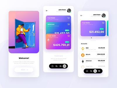 Crypto wallet app uiux trustwallet metamask token web app crypto uiux wallet app uiux crypto app wallet crypto