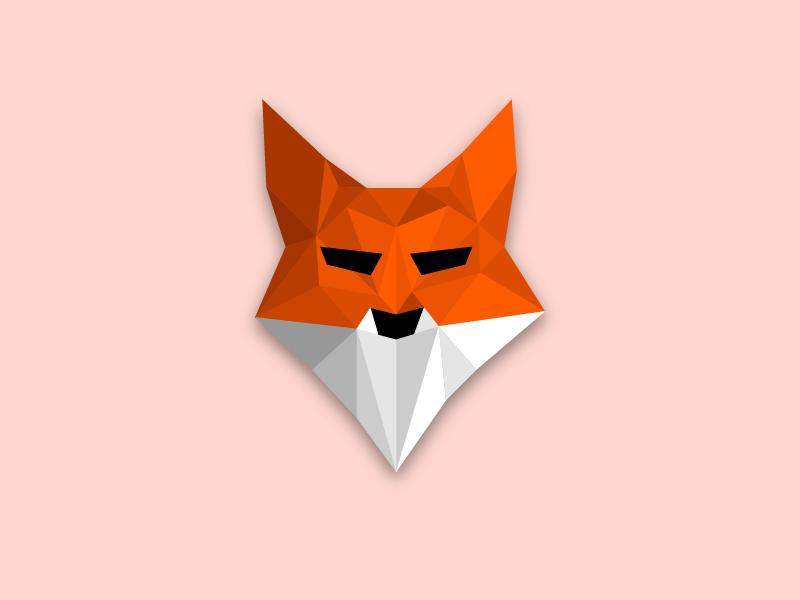 Fox logo logo animals technic lowpoli animal fox ai illustration flat art vector