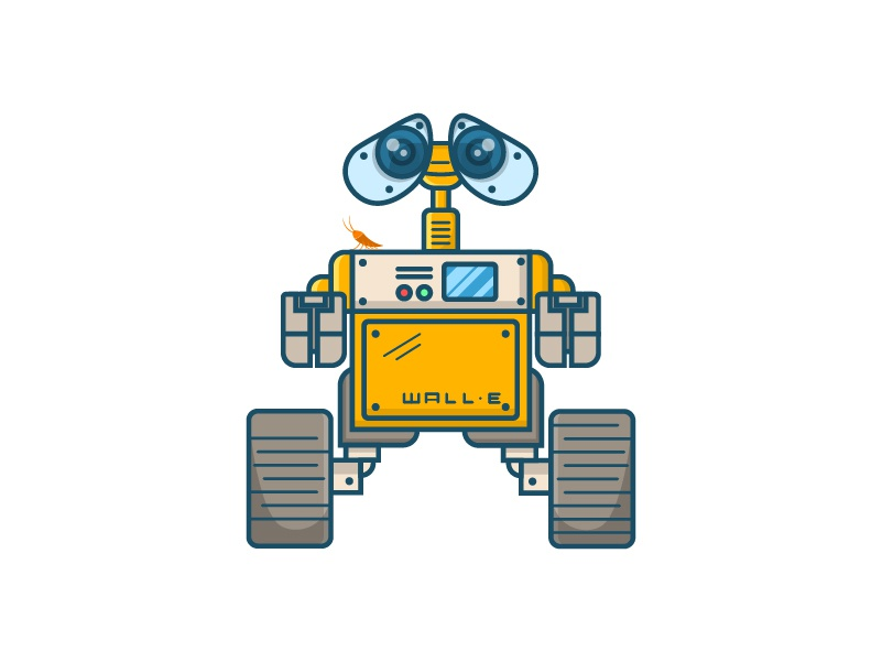 Walle / robot / cartoon art flat ai vector logo adobe inspiration dribbble ui design cartoon illustration cartoon comic designer cartoon character cartoon design robot character design character art walle cartoon