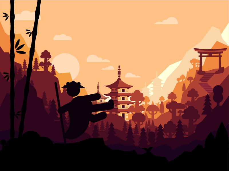 Japan Panda Kung Fu Flat Wallpaper By Iblowyourdesign