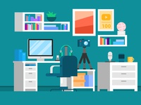 Room / little office / flat room