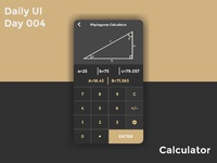 Daily UI Day 004 - Calculator