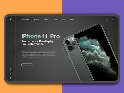 Apple iPhone 11 Pro - Display Page ui ux webdesign design display page iphone apple