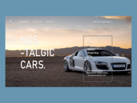 🚗 Cars collection homepage web design
