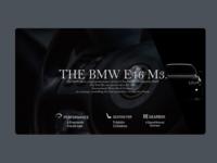 BMW E46 M3 Landing Page