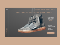 Yeezy Boost 750 landing page