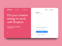 Dropbox Website Replica